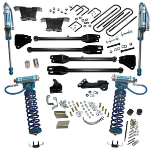 Superlift 4 inch Lift Kit - 2011-2016 Ford F-250 and F-350 Super Duty 4WD - with a 4-Link Conversion, King Coilovers and King rear Shocks