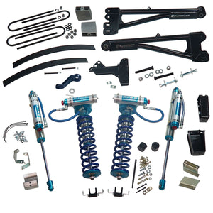 SUPERLIFT 8 inch Lift Kit - 2011-2016 Ford F-250 and F-350 Super Duty 4WD - with Replacement Radius Arms, King Coilovers and King rear Shocks