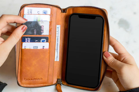 Pouch Leather Wallet Case