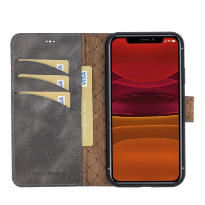 """Magnetic Detachable Leather Wallet Case for Apple iPhone 11 6.1"""""""
