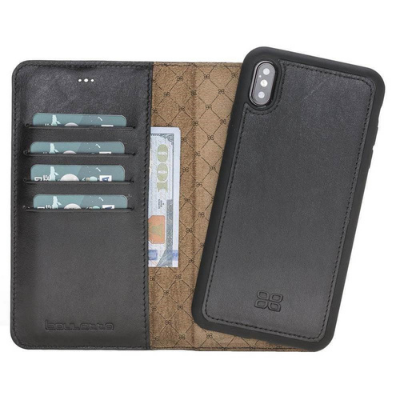 Magnetic Detachable Leather Wallet Case for Apple iPhone X / iPhone XS