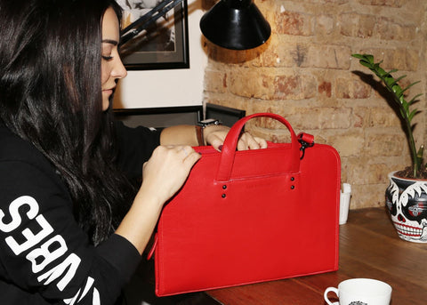 leather apple macbook bag for women