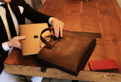 leather apple macbook bags for men