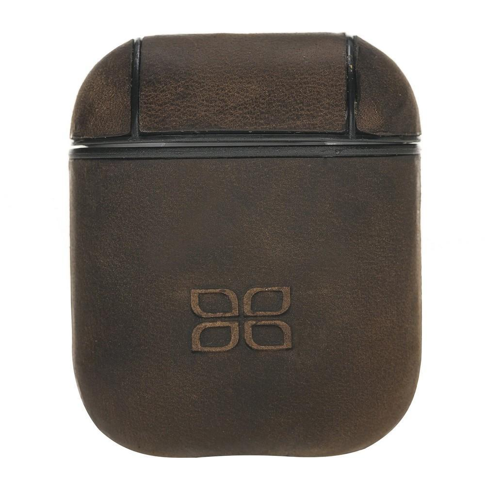 Accessories AirPods Leather Case - Antic Dark Brown Bouletta Shop