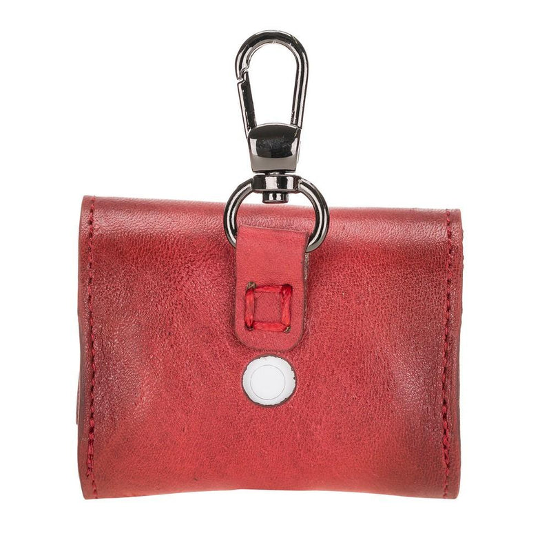 Accessories Mai Magnet AirPods Pro Leather Case with Hook - Vegetal Burnished Red Bouletta Case