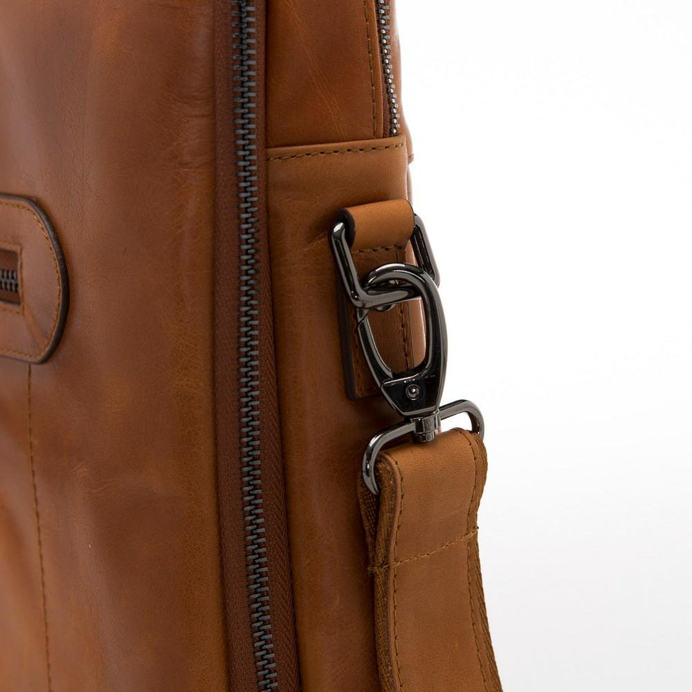 Briefcases Thasos Leather Laptop Bag - Rustic Tan with Effect Bouletta Case