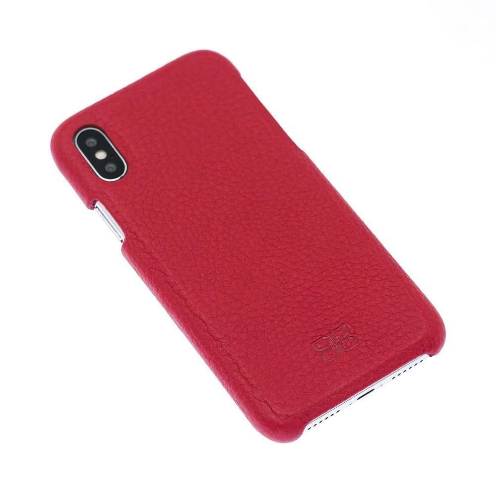 Cover Case F360 Leather Back Cover Case for Apple iPhone X/XS - Floater Red Bouletta Shop