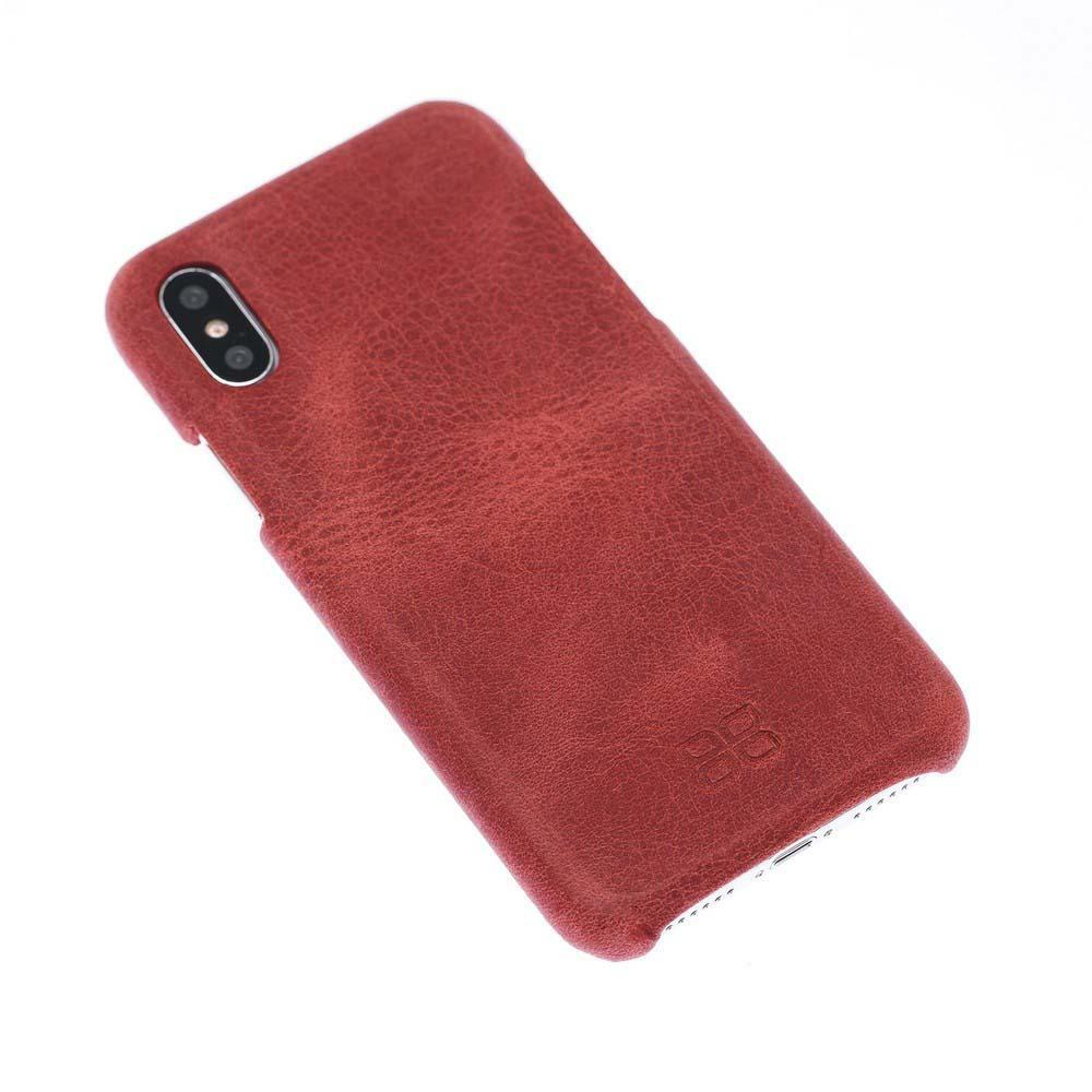 Cover Case F360 Leather Back Cover Case for Apple iPhone X/XS - Rome Red Bouletta Shop