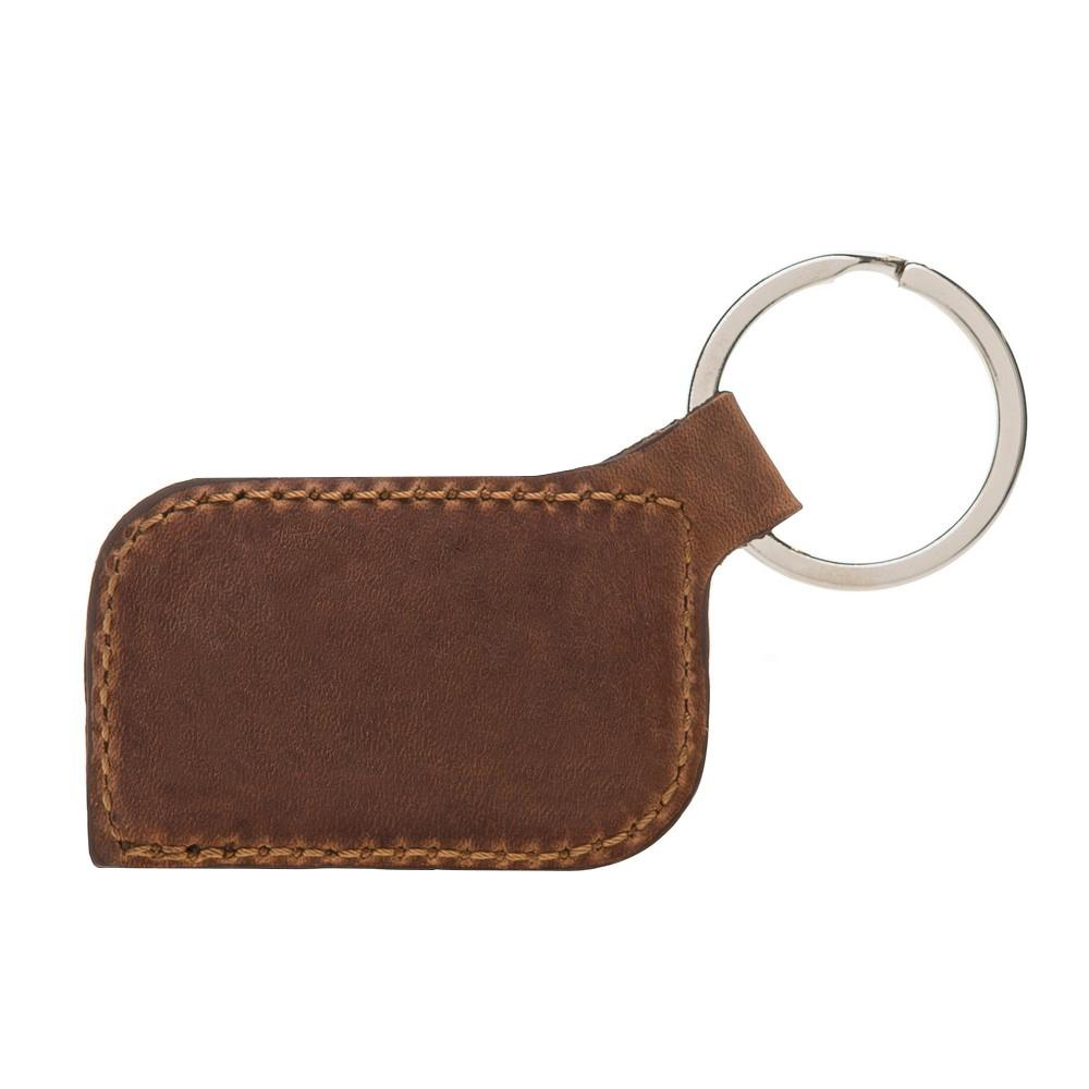 Keychain Leather Keyring - Antic Brown Bouletta Shop