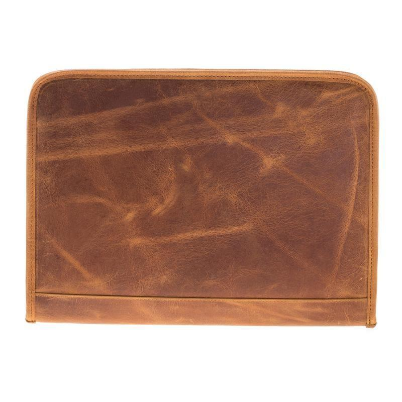 Laptop Sparta Leather Laptop Case - Antic Tan Bouletta Case
