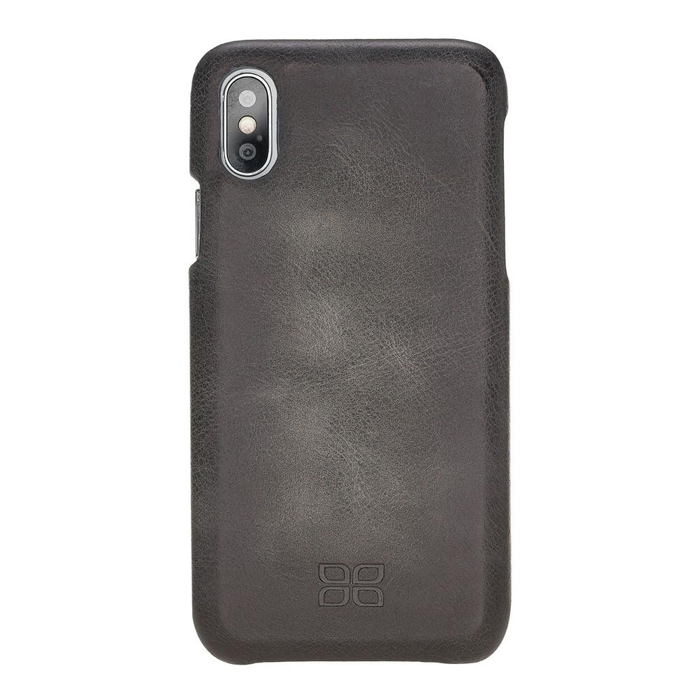 Phone Case F360 Leather Back Cover Case for Apple iPhone X/XS - Tiguan Grey with Effect Bouletta Shop