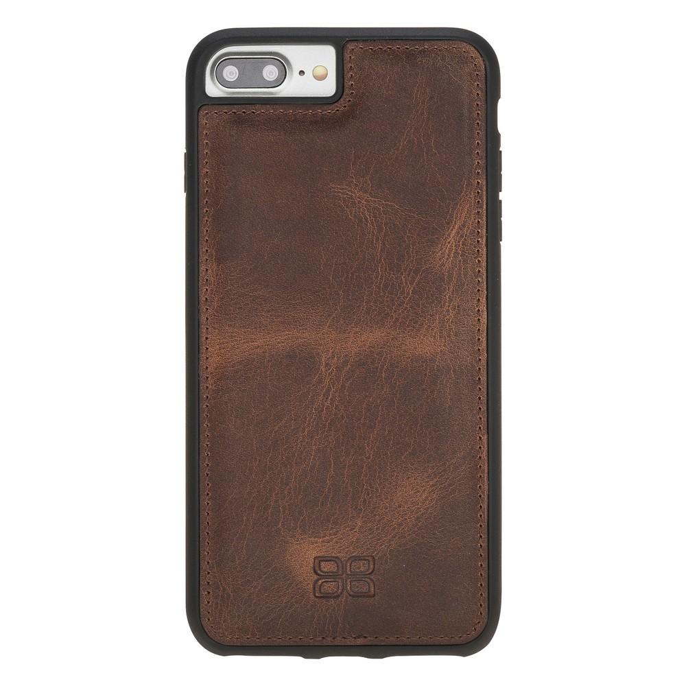 Phone Case Flex Cover Back Leather Case for Apple iPhone 7/8 Plus - Antic Brown Bouletta Shop