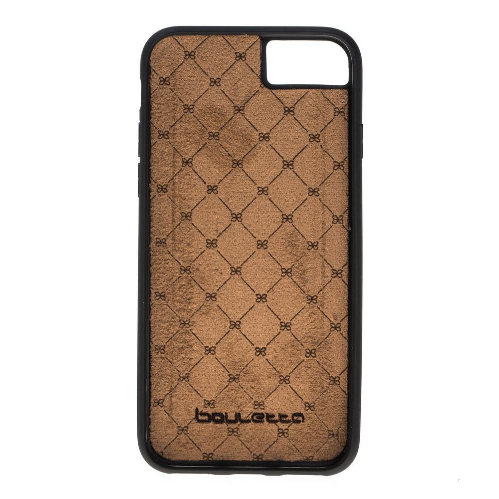 Phone Case Flex Cover Back Leather Case for Apple iphone SE2/7/8 - Ostrich Tan Bouletta Shop