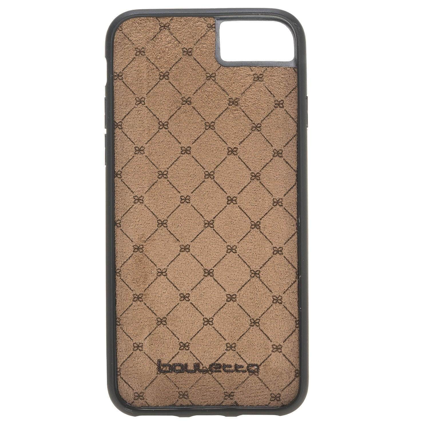 Phone Case Flex Cover Back Leather Case for Apple iphone SE2/7/8 - Vegetal Tan with Vein Bouletta Shop
