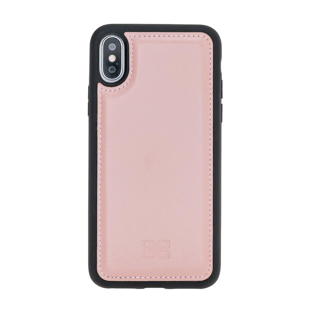Phone Case Flex Cover Back Leather Case for Apple iPhone X/XS - Nude Pink Bouletta Shop