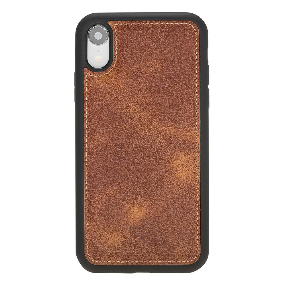 Phone Case Flex Cover Back Leather Case for Apple iPhone XR - Tiguan Tan with Vein Bouletta Shop