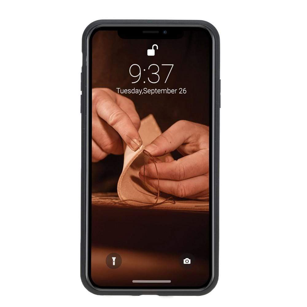 Phone Case Flex Cover Back Leather Case for Apple iPhone XS Max - Antic Brown Bouletta Shop