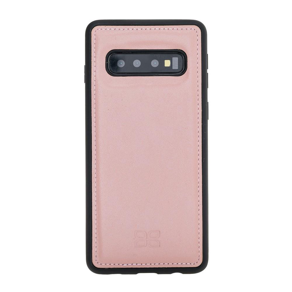 Phone Case Flex Cover Back Leather Case for Samsung Galaxy S10 - Nude Pink Bouletta Shop