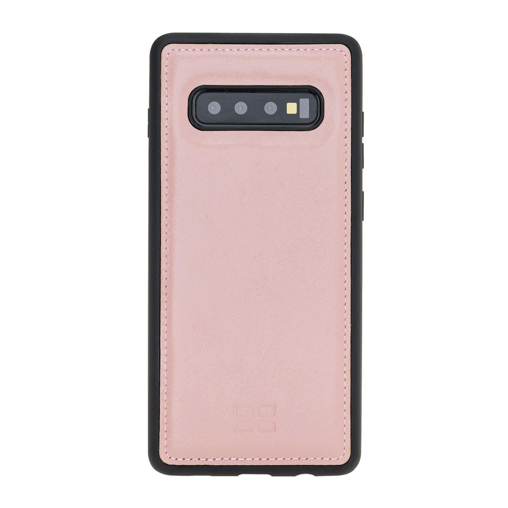 Phone Case Flex Cover Back Leather Case for Samsung Galaxy S10 Plus - Nude Pink Bouletta Shop