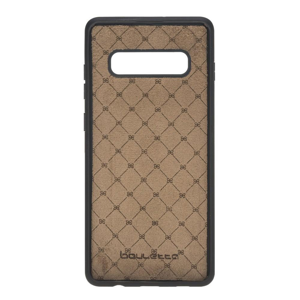Phone Case Flex Cover Back Leather Case for Samsung Galaxy S10 Plus - Tiguan Grey Bouletta Shop