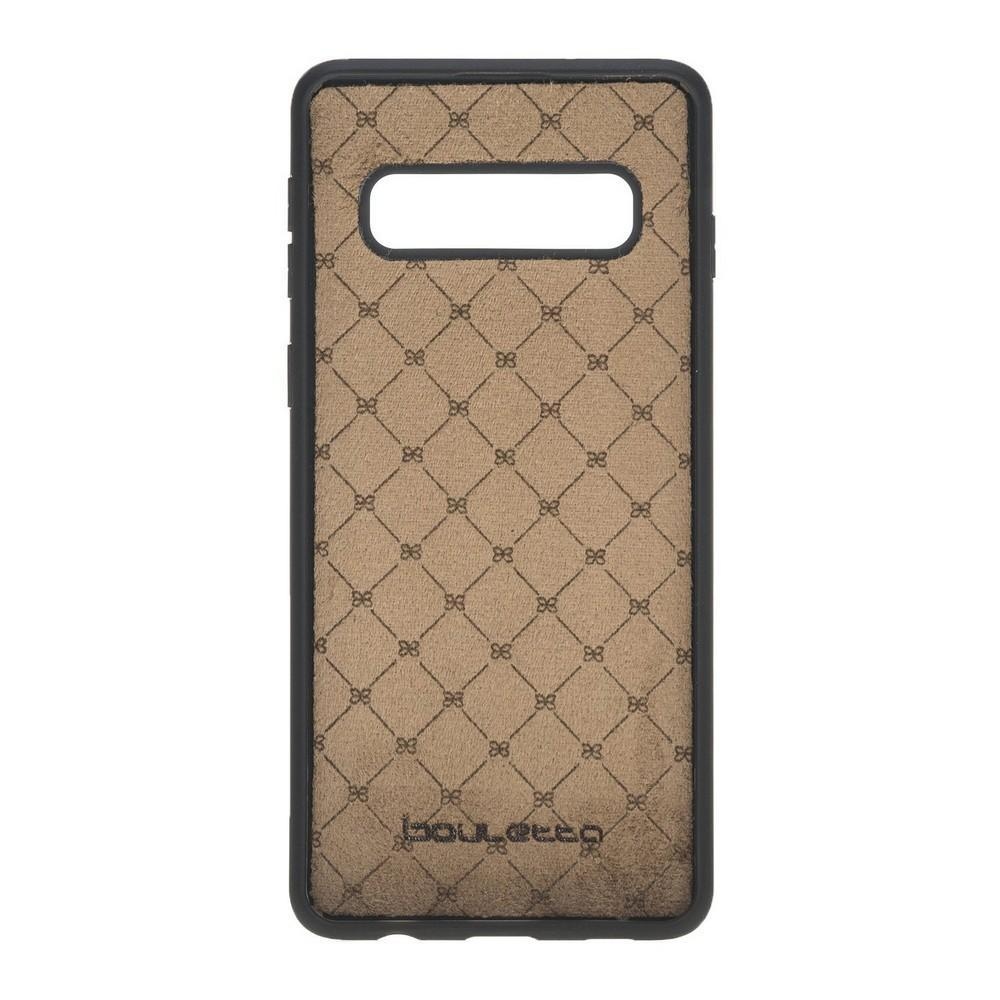 Phone Case Flex Cover Back Leather Case for Samsung Galaxy S10 - Rustic Black Bouletta Shop