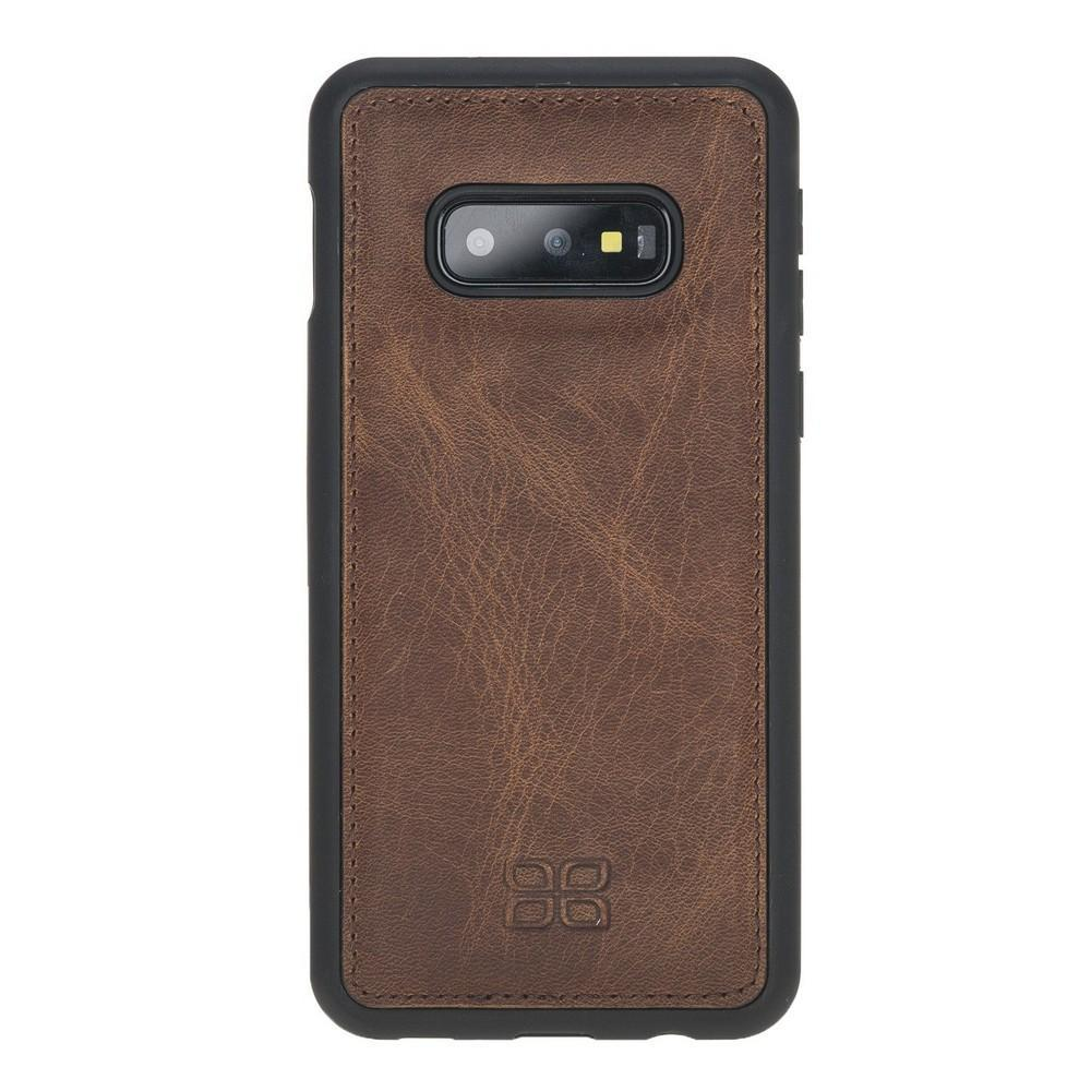 Phone Case Flex Cover Back Leather Case for Samsung Galaxy S10e Essential - Antic Brown Bouletta Shop