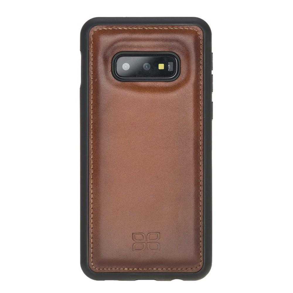 Phone Case Flex Cover Back Leather Case for Samsung Galaxy S10e Essential - Rustic Tan with Effect Bouletta Shop