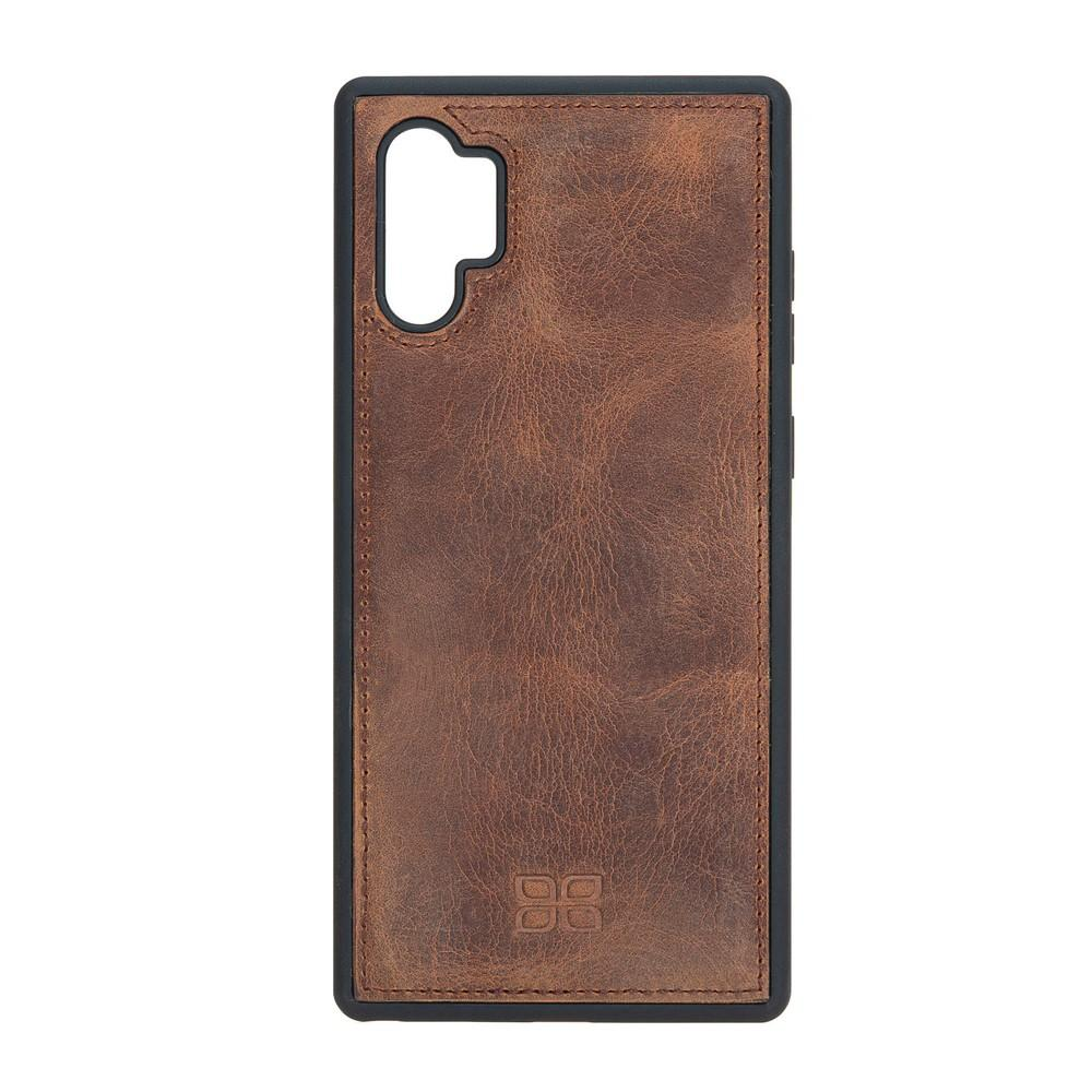 Phone Case Flex Cover Back Leather Case for Samsung Note 10 Plus - Antic Brown Bouletta Shop