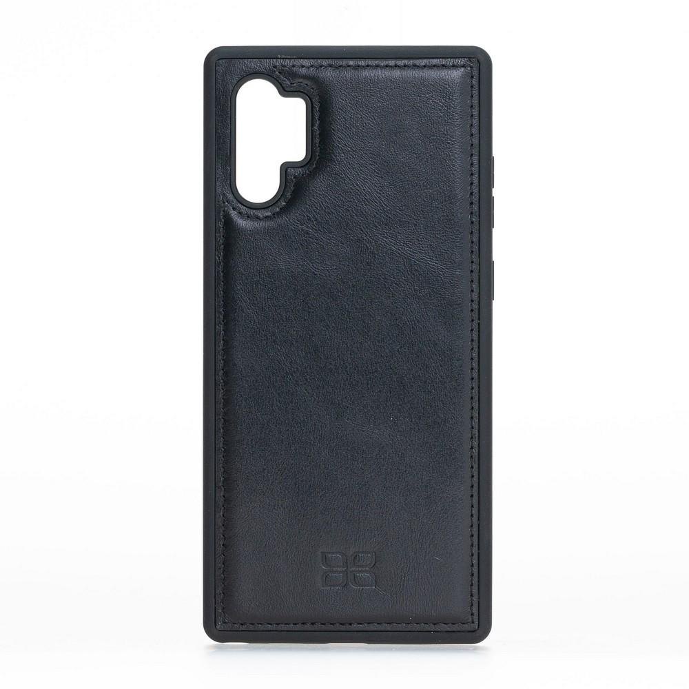 Phone Case Flex Cover Back Leather Case for Samsung Note 10 Plus - Rustic Black Bouletta Shop