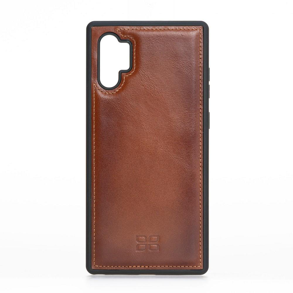 Phone Case Flex Cover Back Leather Case for Samsung Note 10 Plus - Rustic Tan with Effect Bouletta Case