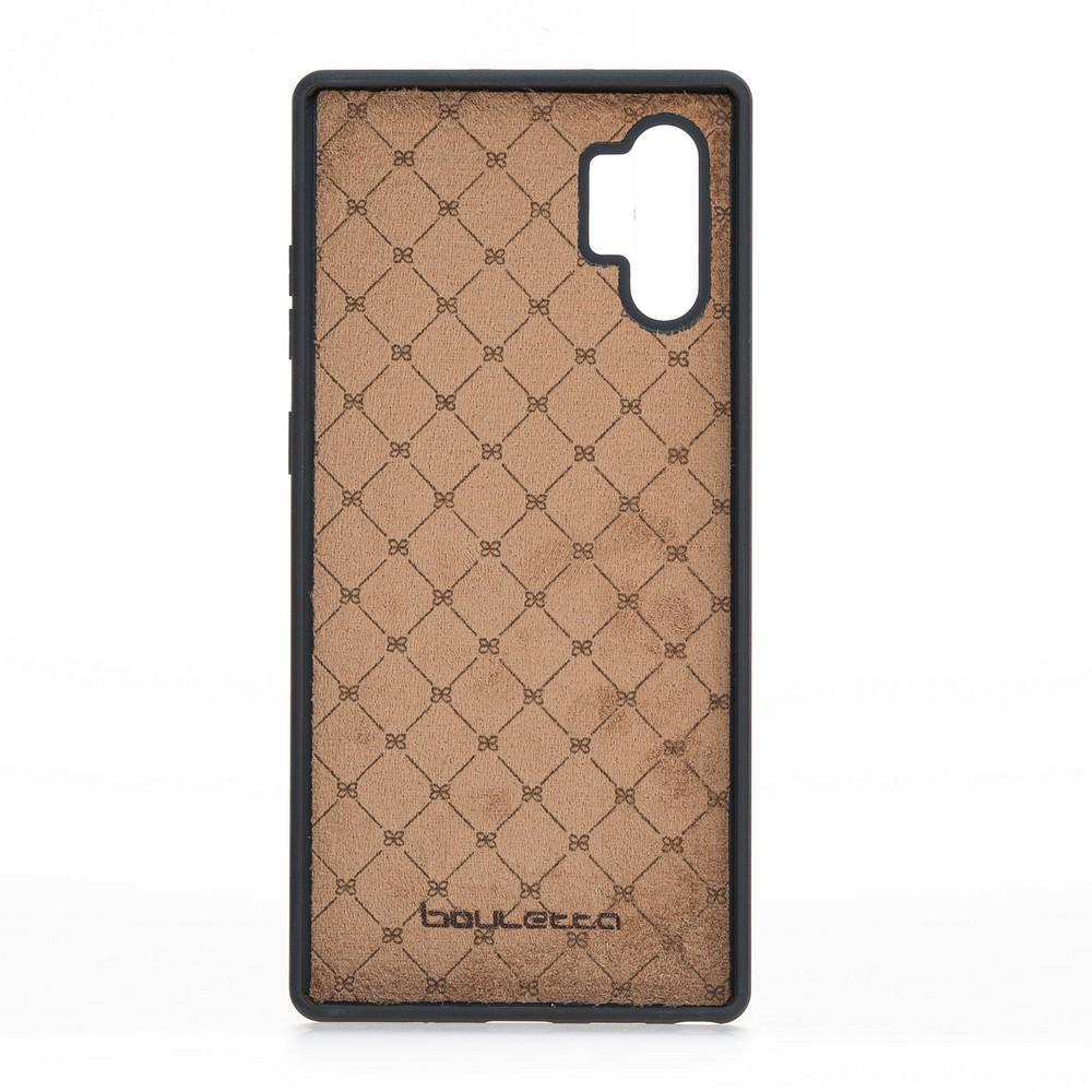Phone Case Flex Cover Back Leather Case for Samsung Note 10 Plus - Rustic Tan with Effect Bouletta Shop