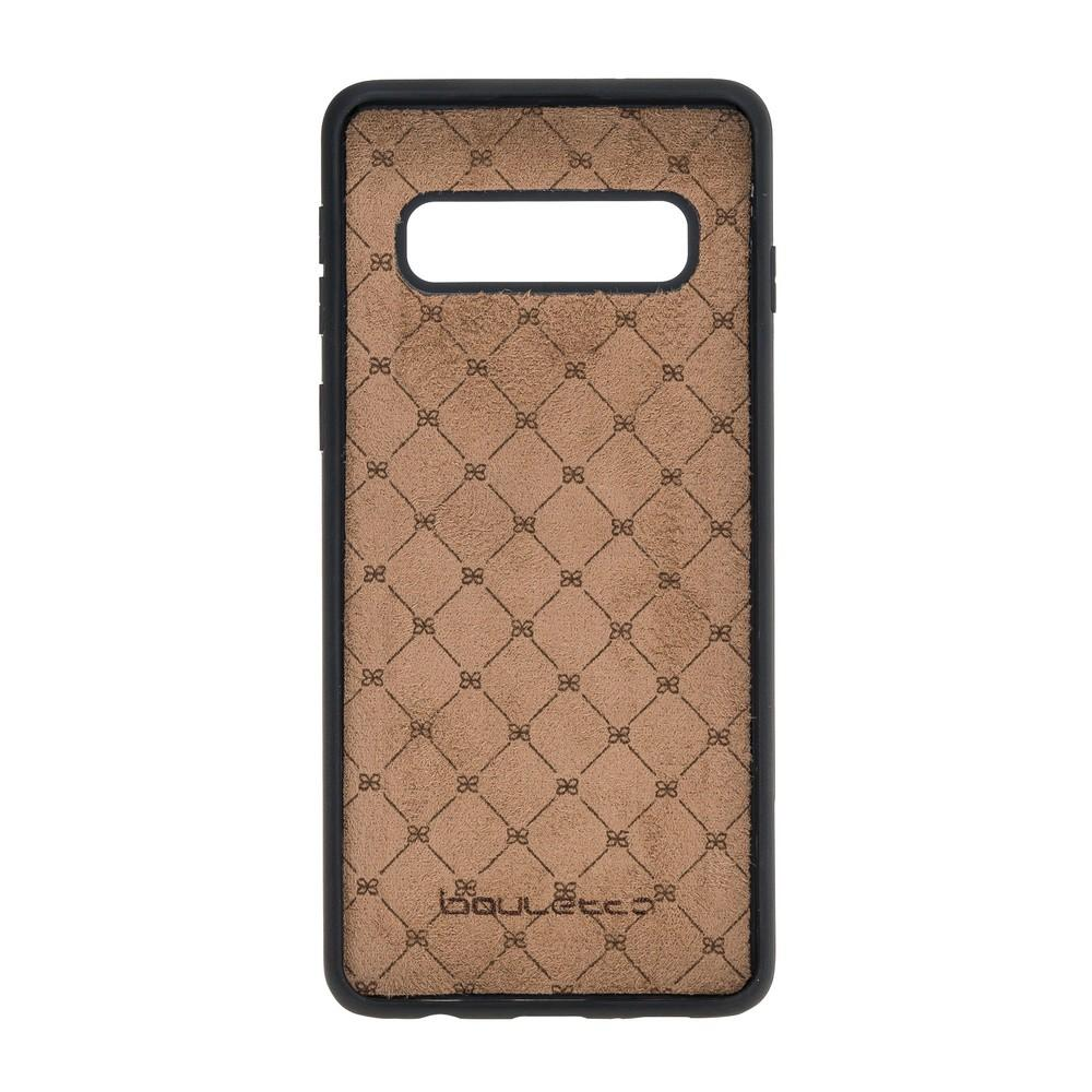 Phone Case Flex Cover Back Leather Case with Card Holder for Samsung Galaxy S10 - Antic Brown Bouletta Shop