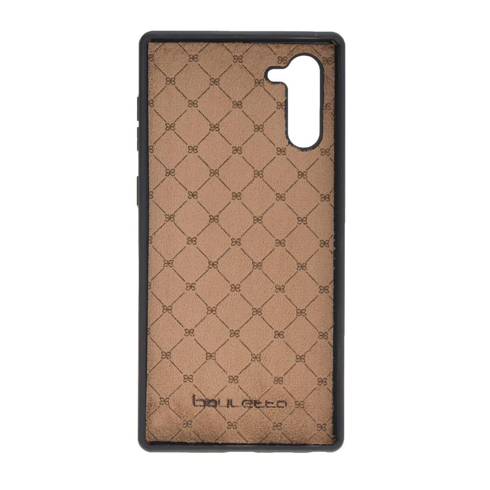 Phone Case Flex Cover Back Leather Case with Card Holder for Samsung Note 10 - Rustic Tan with Effect Bouletta Shop