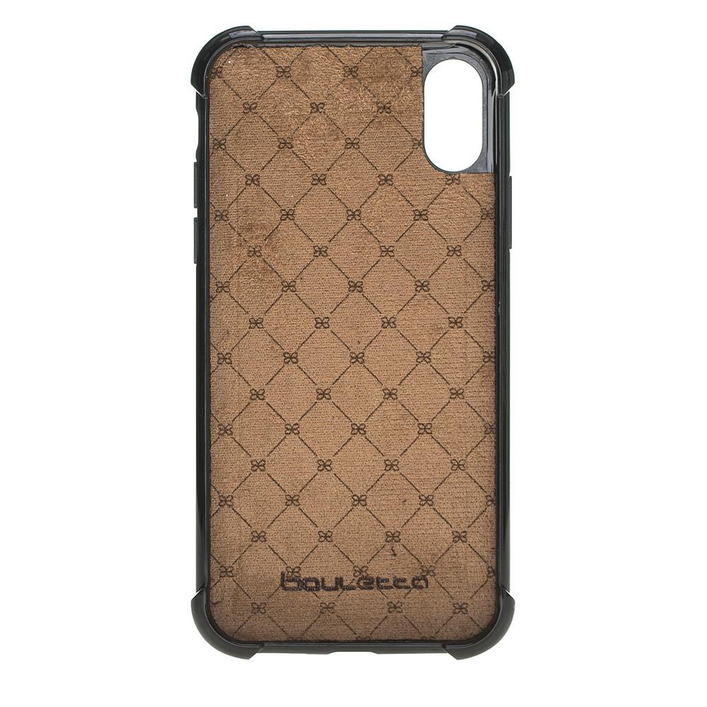 Phone Case Guard Flex Cover Back Leather Case for Apple iPhone X/XS - Vegetal Tan with Vein Bouletta Shop