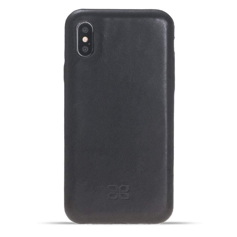 Phone Case Leather Ultra Cover Snap On Back Cover for Apple iPhone X/XS - Vegetal Black Bouletta Shop
