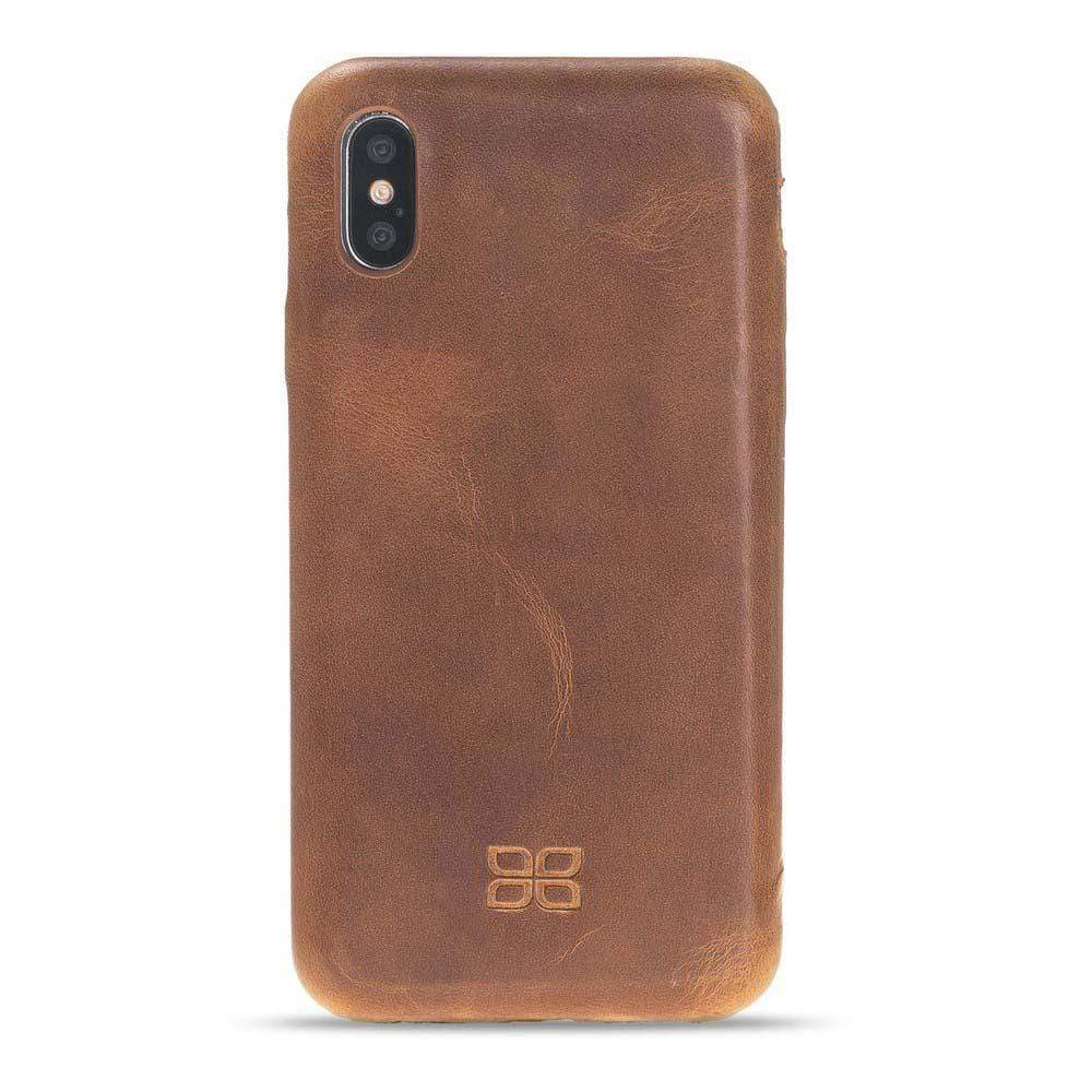Phone Case Leather Ultra Cover Snap On Back Cover for Apple iPhone X/XS - Vegetal Tan Bouletta Shop