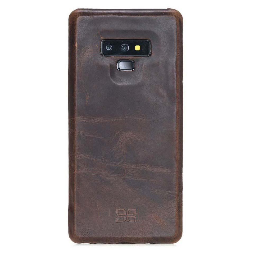 Phone Case Leather Ultra Cover Snap On Back Cover for Samsung Note 9 - Vegetal Dark Brown Bouletta Shop
