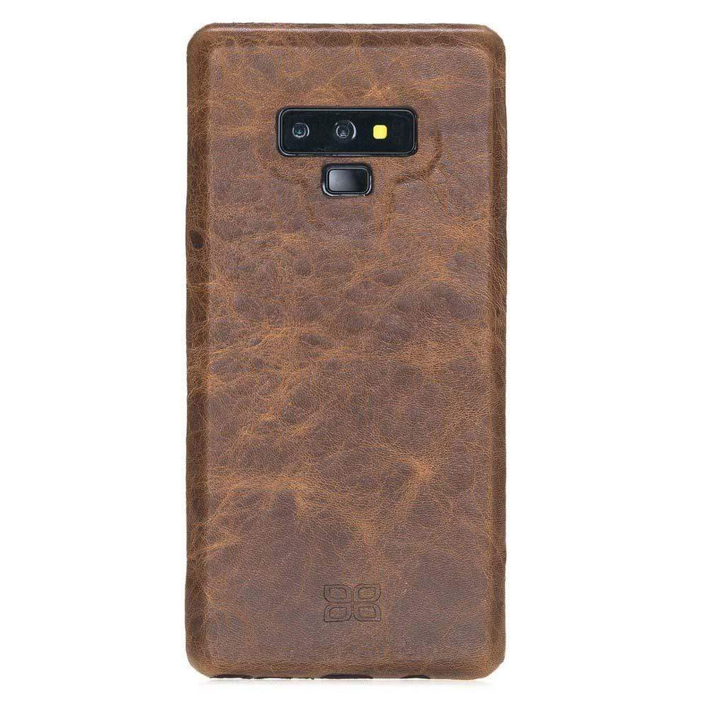 Phone Case Leather Ultra Cover Snap On Back Cover for Samsung Note 9 - Vegetal Light Brown Bouletta Shop