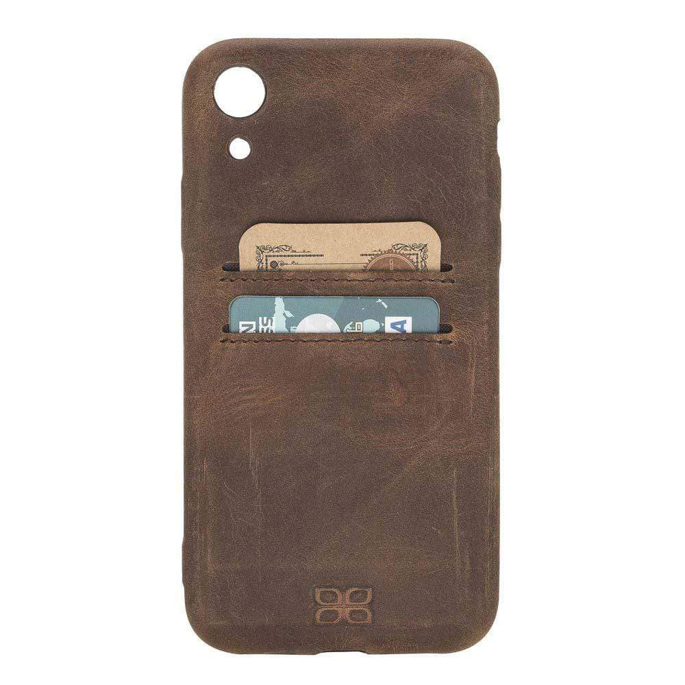 Phone Case Leather Ultra Cover with Card Holder for Apple iPhone XR - Antic Brown Bouletta Shop