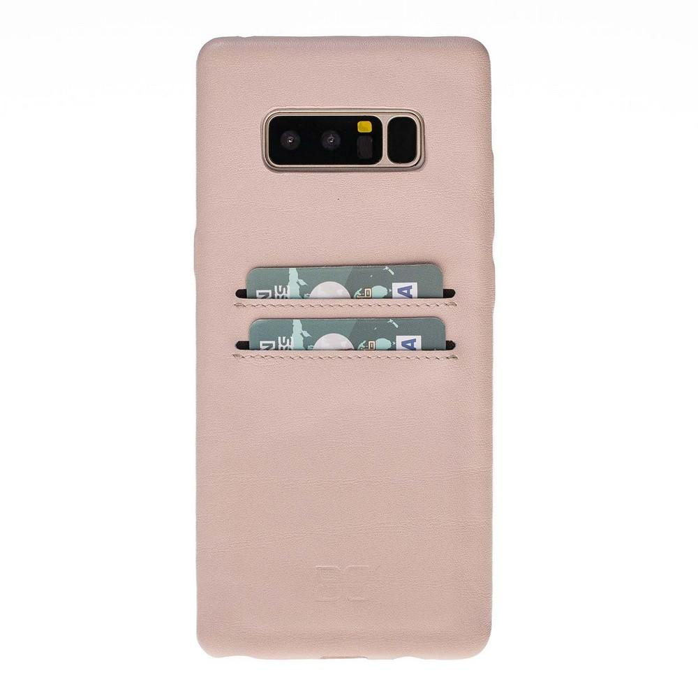 Phone Case Leather Ultra Cover with Credit Card Slots for Samsung Note 8  - Nude Bouletta Shop