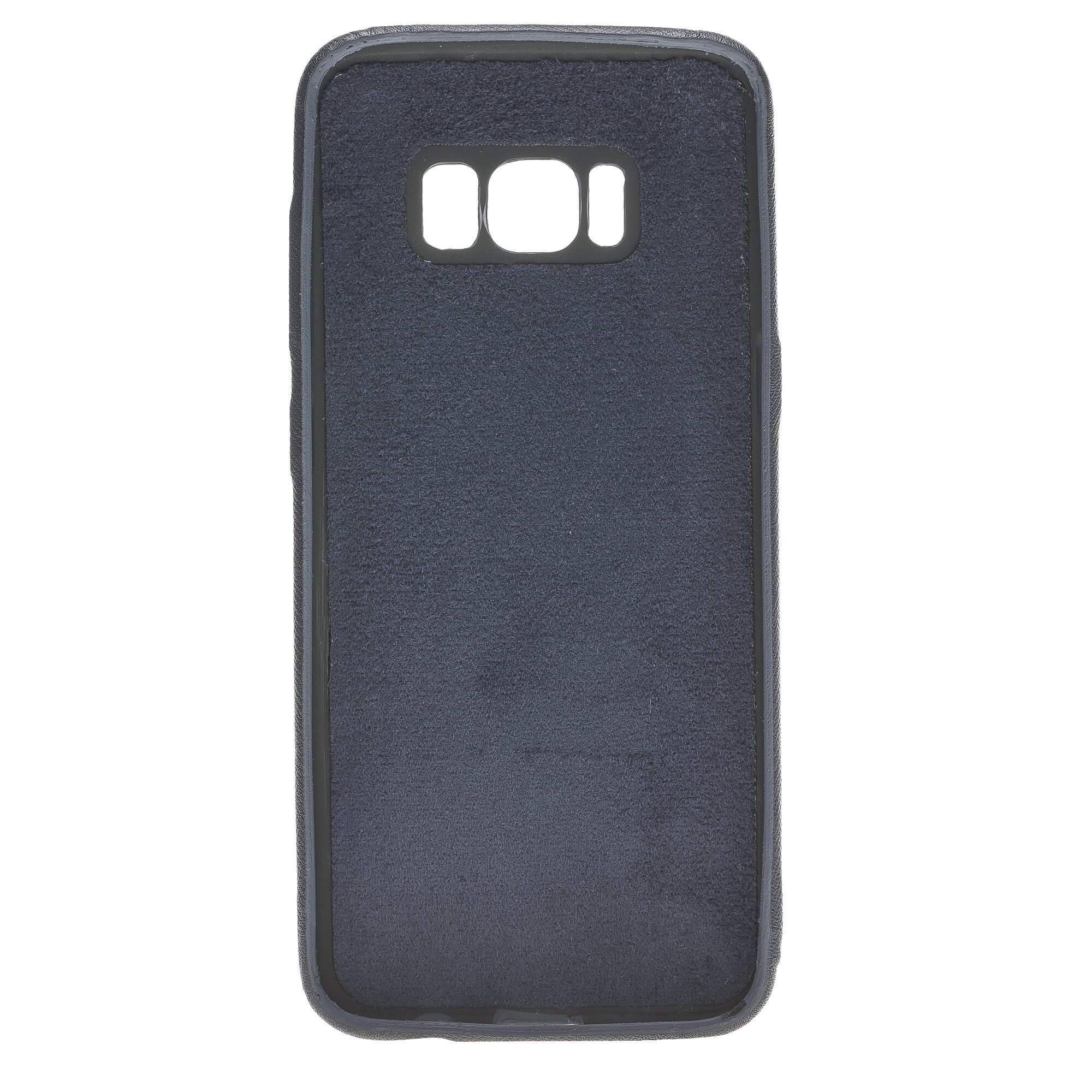 Phone Case Leather Ultra Cover with Credit Card Slots for Samsung S8 - Saffiano Navy Blue Bouletta Shop