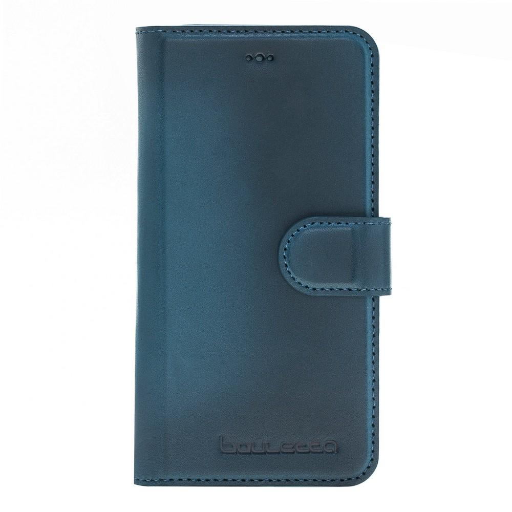 Phone Case Magnetic Detachable Leather Wallet Case for Apple iPhone X / XS - BRN Burnished Navy Blue Bouletta Case