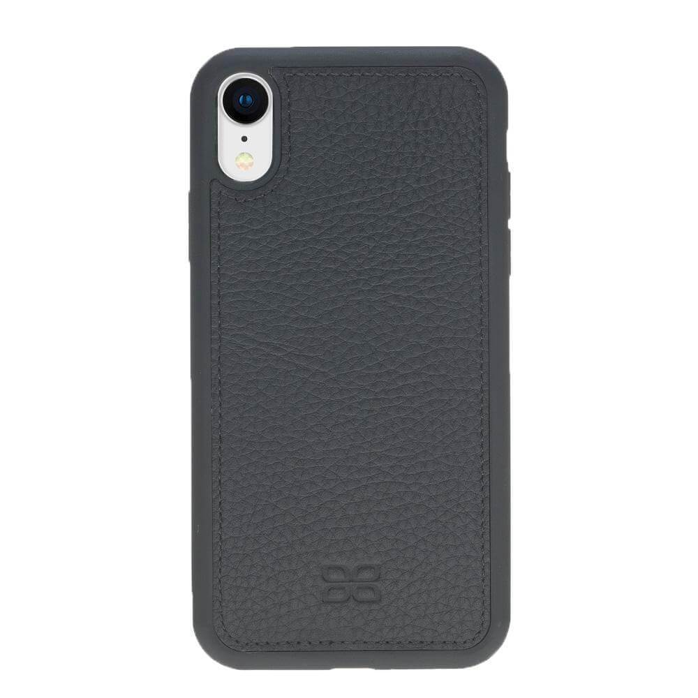 Phone Case Magnetic Detachable Leather Wallet Case for Apple iPhone XR - Floater Black Bouletta Case