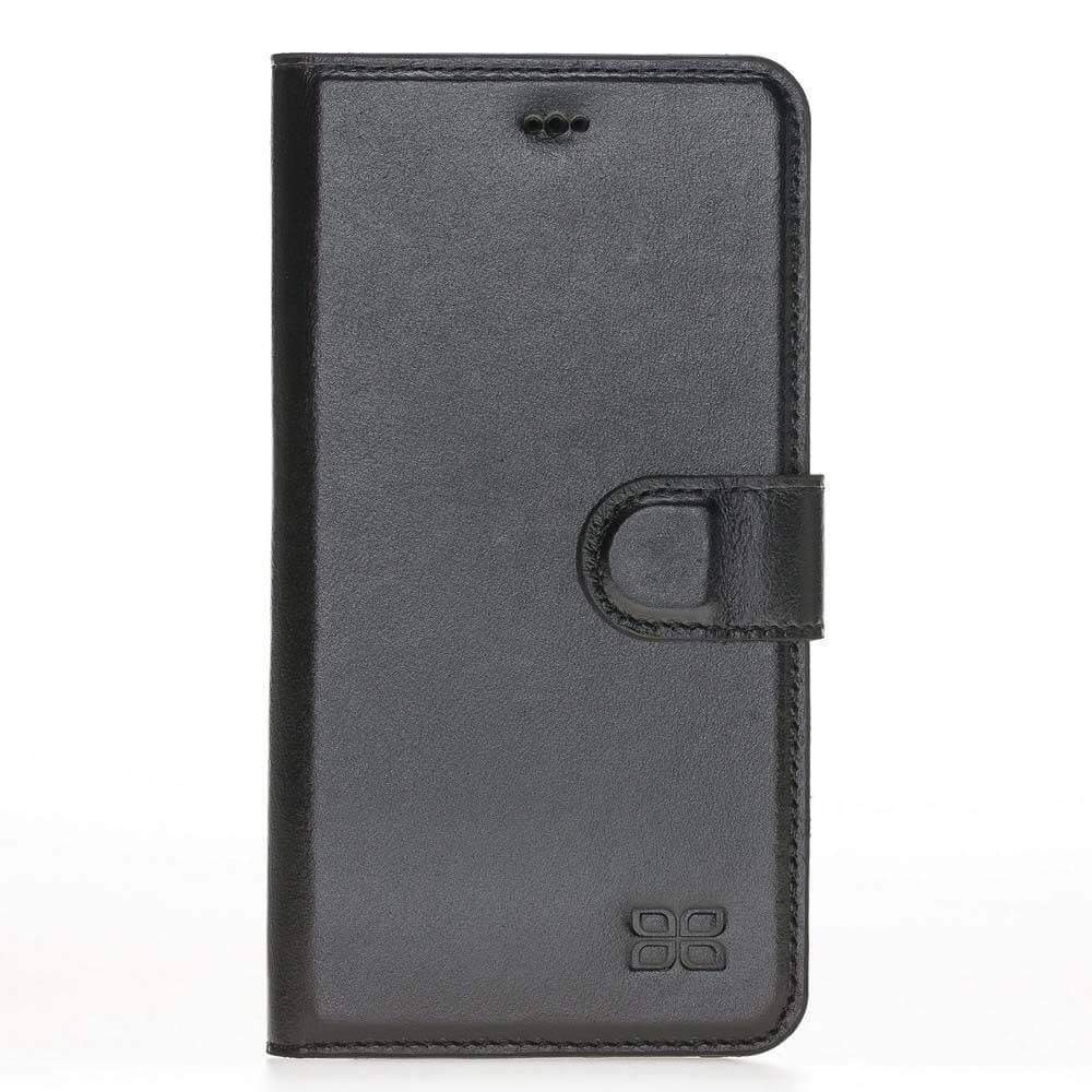 Phone Case Magnetic Detachable Leather Wallet Case for Apple iPhone XS Max - Rustic Black Bouletta Case