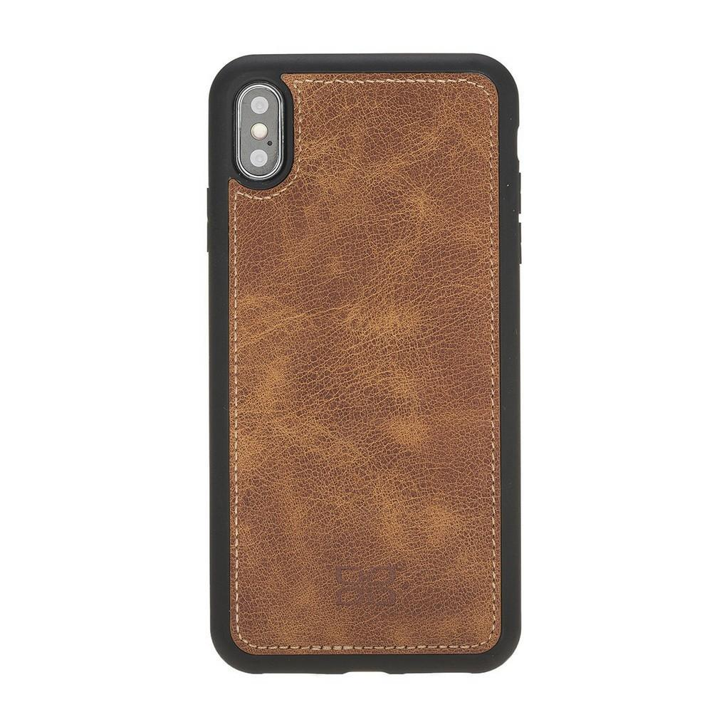 Phone Case Magnetic Detachable Leather Wallet Case for Apple iPhone XS Max - Tiguan Tan Bouletta Case