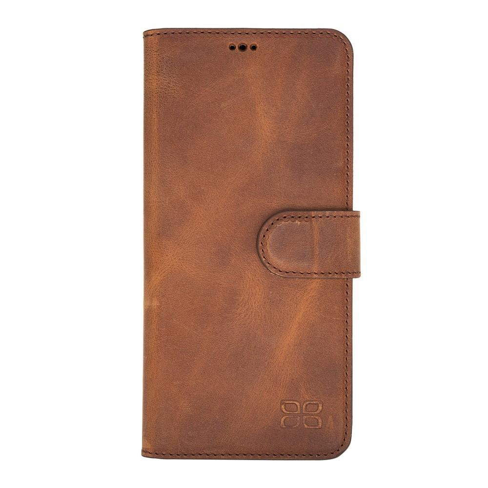 Phone Case Magnetic Detachable Leather Wallet Case for Huawei P30 Pro  - Antic Brown Bouletta Case