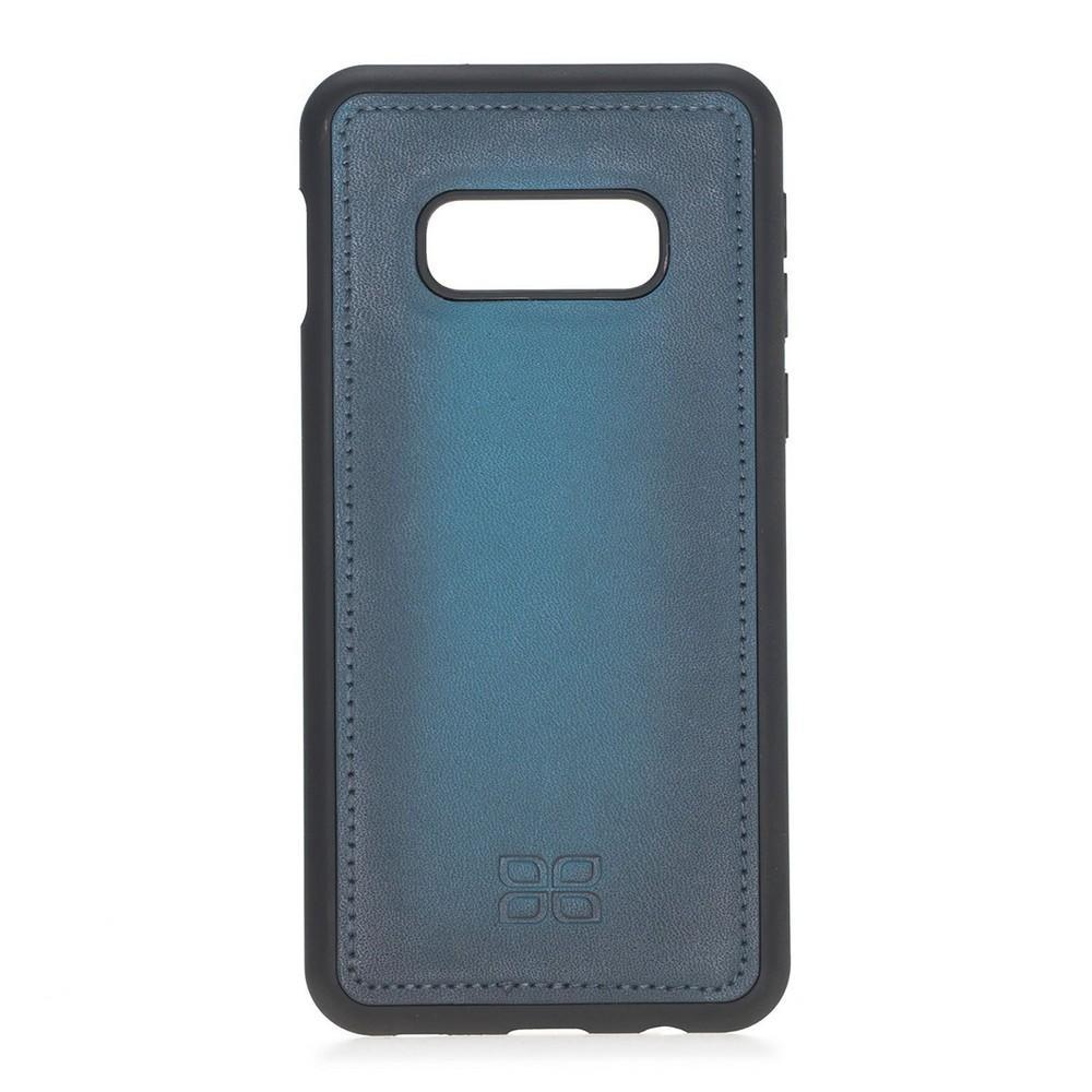 Phone Case Magnetic Detachable Leather Wallet Case for Samsung Galaxy S10E Essential - BRN Burnished Navy Blue Bouletta Case