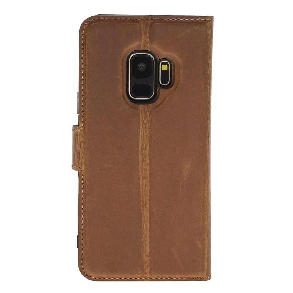 Phone Case Magnetic Detachable Leather Wallet Case for Samsung Galaxy S9 - Antic Camel Bouletta Case