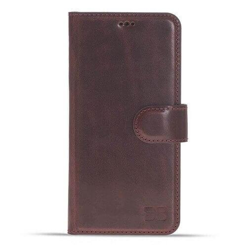 Phone Case Magnetic Detachable Leather Wallet Case for Samsung Galaxy S9 - Vegetal Bordeaux Bouletta Case
