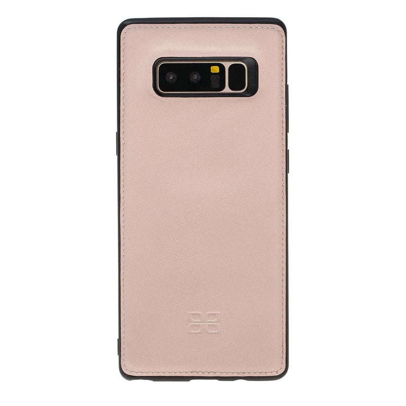 Phone Case Magnetic Detachable Leather Wallet Case for Samsung Note 8 - Nude Pink Bouletta Case